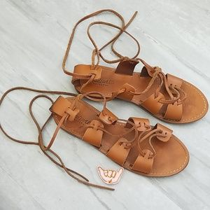 MADEWELL | The Gladiator Sightseer lace-up sandals